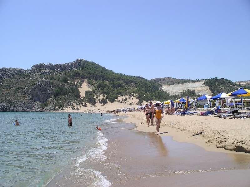 Пляжи восточного побережья Родоса.
